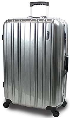 【SUCCESS サクセス】 スーツケース 2サイズ( 大型 76cm / ジャスト型 71cm ) 軽量 安心フレーム TSAロック 搭載 新型 ジェノバPC2015 (ジャスト型 Jサイズ(71cm), プレミアムアルミ)