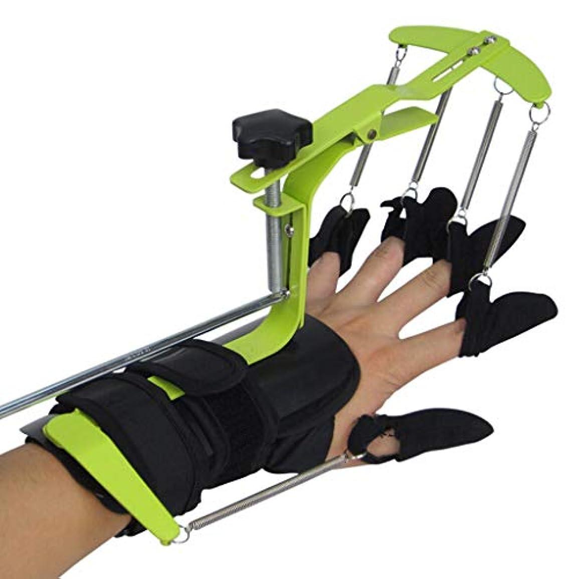 ぬれた抗生物質ブル指トレーナー - 調節可能な腱修復装具、脳卒中、片麻痺患者のための多機能ハンド理学療法リハビリ機器