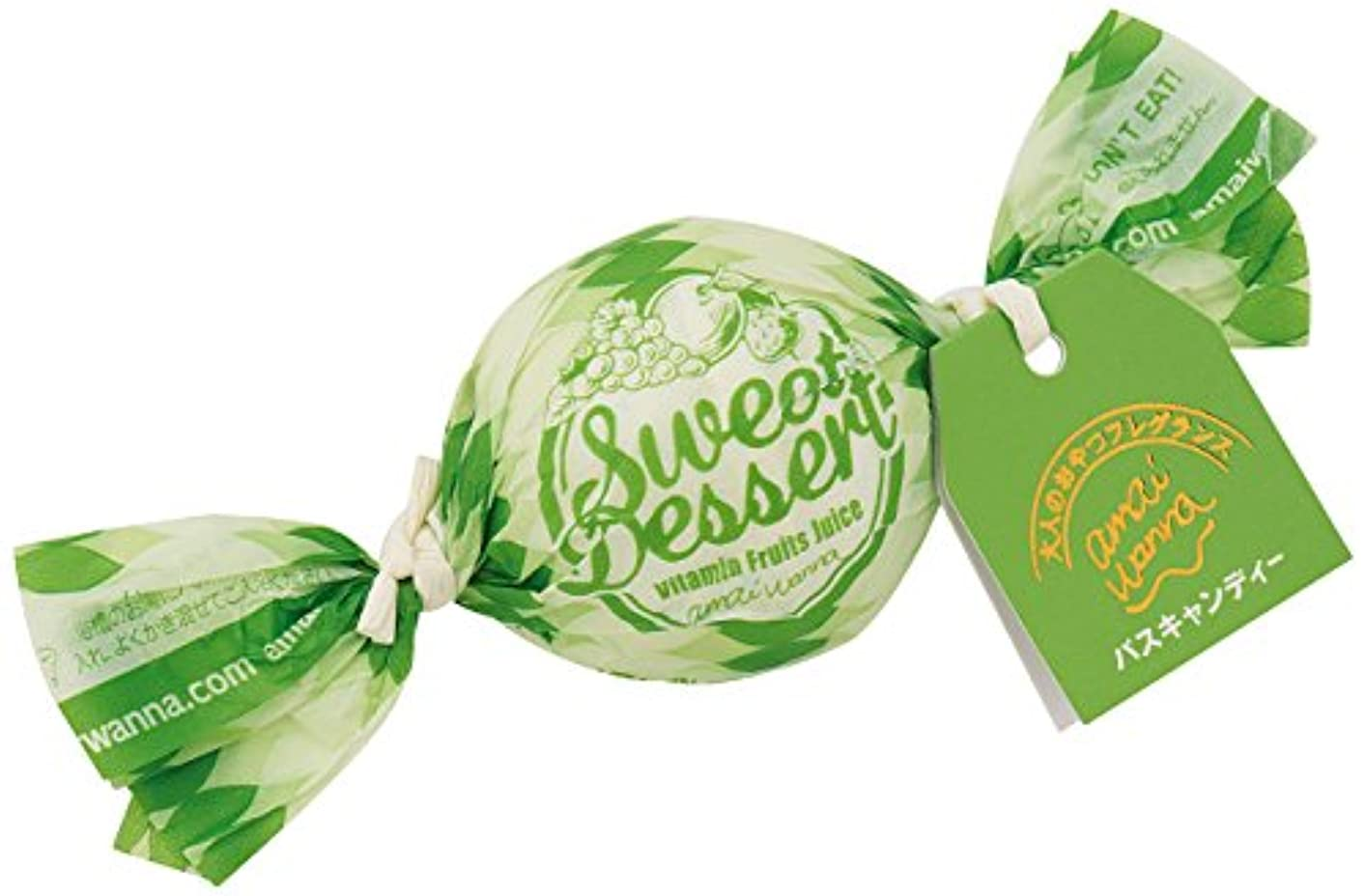 刺繍変動するくちばしアマイワナ バスキャンディー35g×12粒 ビタミンフルーツジュース(発泡タイプ入浴料 心はずむ元気なビタミンフルーツの香り)