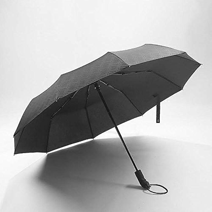 ボイドトリム本を読むChuangshengnet 傘ビジネス傘折りたたみ傘レトロ自動傘自動開閉大型傘 (Color : ブラック)