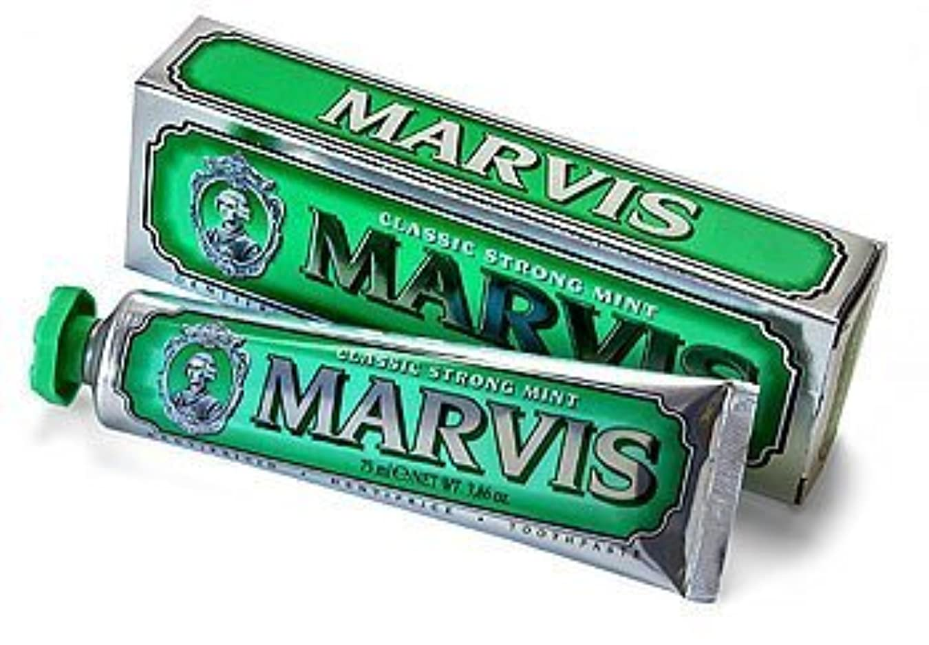 漁師申請中獣Marvis Classic Strong Mint Toothpaste - 75ml by Marvis [並行輸入品]