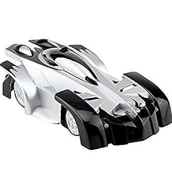 【ラジコンの概念を覆す!! 壁 を 走行 する 新感覚の ラジコン :WALL-DRIVE ブラック】 ラジコンカー ヘッドライト テールランプ LED搭載 【地面&壁の両方のフィールドを走行】