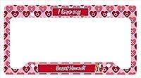Carolines Treasures LH9152LPF 12 x 6 in. Basset Hound Valentines Love and Hearts License Plate Frame
