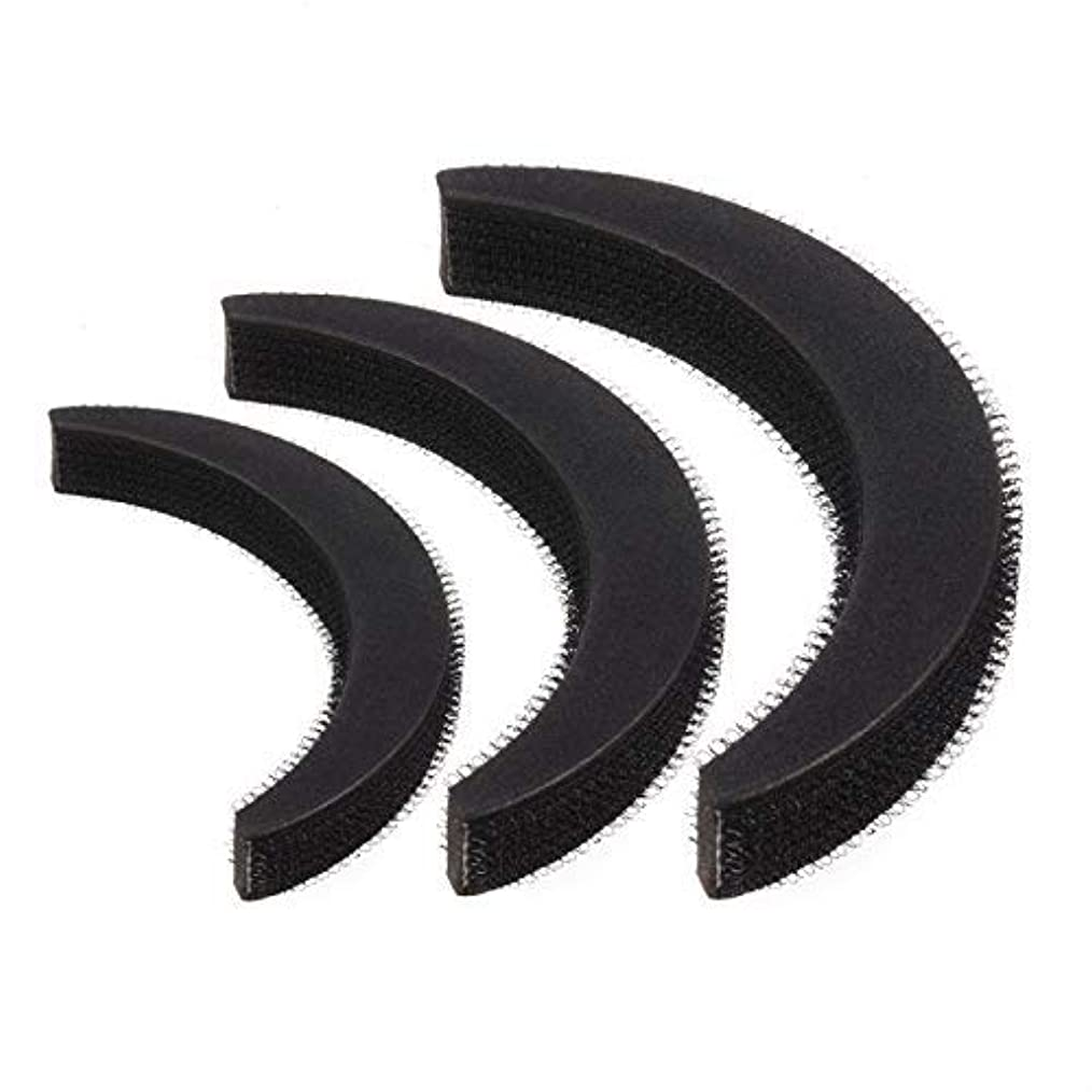 高価な賞賛する編集者Feeko Hair Bump,3psc Hair Bumpit Roll Honeycomb Hair Bump Hair Pad Haight Hairdressing Set Tool Black [並行輸入品]
