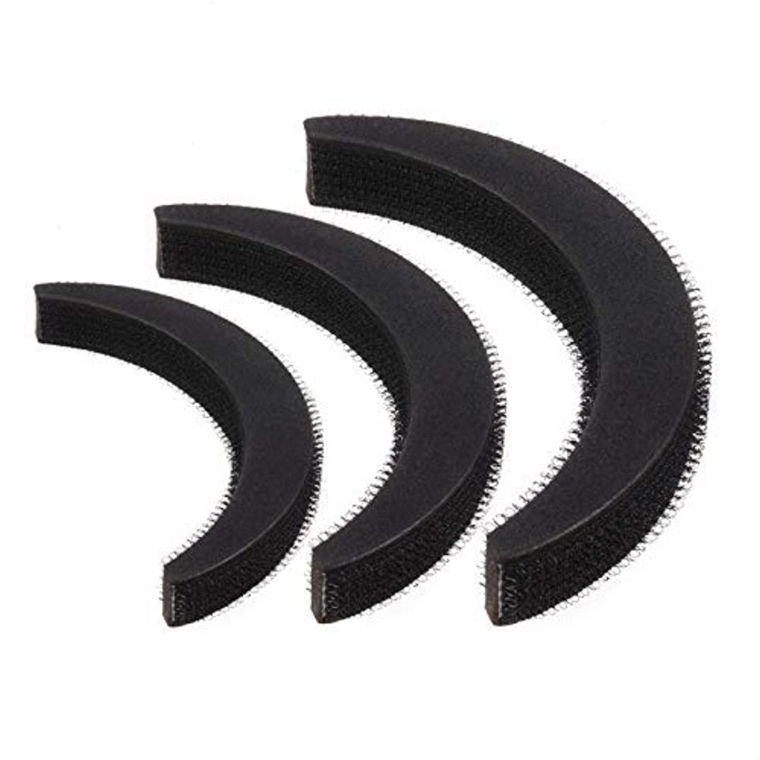 暴徒軽蔑スカートFeeko Hair Bump,3psc Hair Bumpit Roll Honeycomb Hair Bump Hair Pad Haight Hairdressing Set Tool Black [並行輸入品]