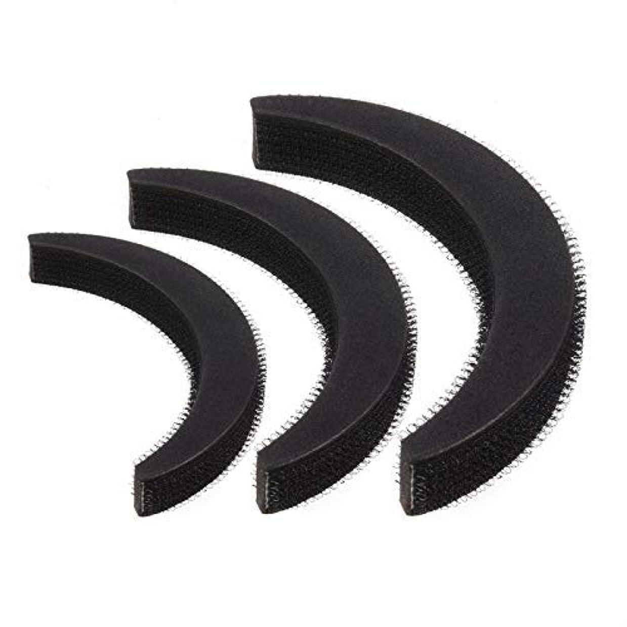 シアー脅迫荒野Feeko Hair Bump,3psc Hair Bumpit Roll Honeycomb Hair Bump Hair Pad Haight Hairdressing Set Tool Black [並行輸入品]