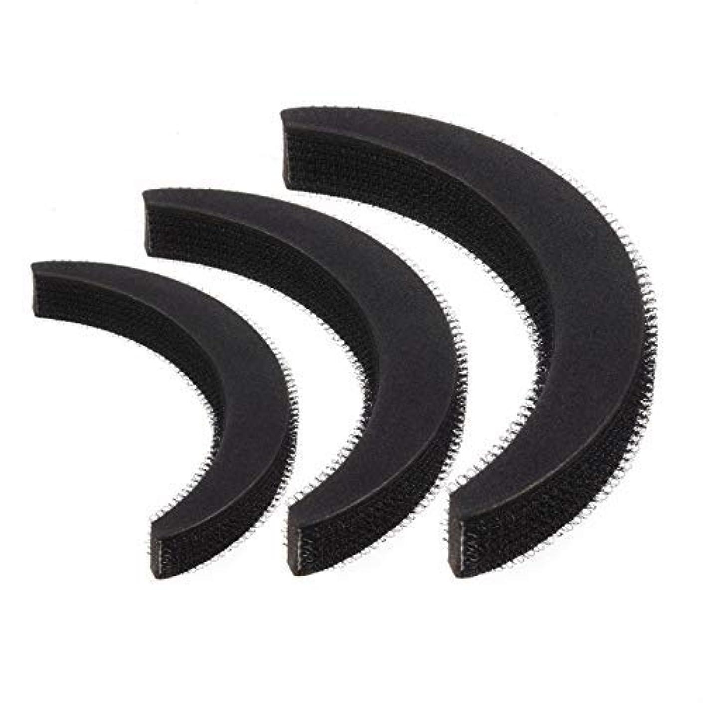 給料橋おかしいFeeko Hair Bump,3psc Hair Bumpit Roll Honeycomb Hair Bump Hair Pad Haight Hairdressing Set Tool Black [並行輸入品]