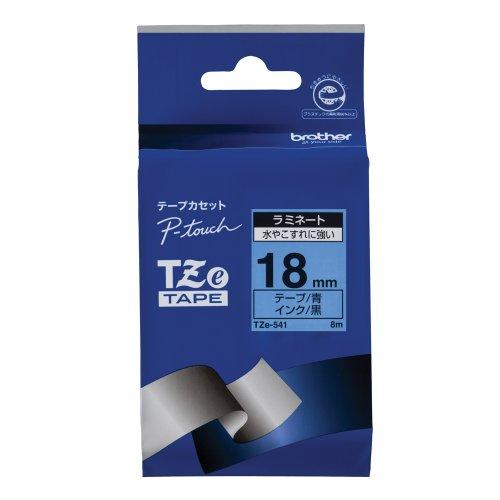 ピータッチ ラミネートテープ 青ラベル TZe-541 [黒文字 18mm×8m]