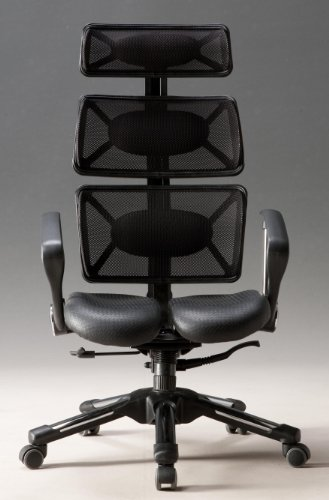 Hara Chair(ハラチェア)ドクター フレッシュ(ブラック)オフィスチェア オフィスチェアー 高機能チェア 高機能チェアー 高機能 パソコンチェアー デスクチェアー リクライニング ハイバック メッシュ 腰痛 イス 椅子 事務用 回転 チェア (HARAチェアー ハラチェアー)