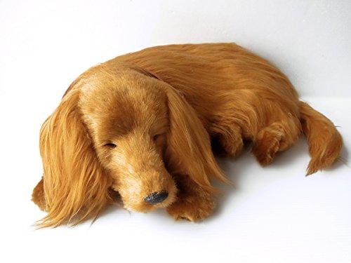 本物そっくりに眠る犬のぬいぐるみ パーフェクトペット ダック...