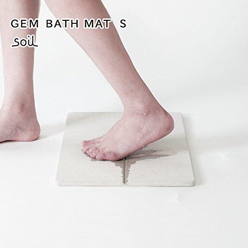 soil GEM ソイル ジェムシリーズ 珪藻土 バスマット Sサイズ / お風呂マット 防カビ 防菌 抗菌の詳細を見る