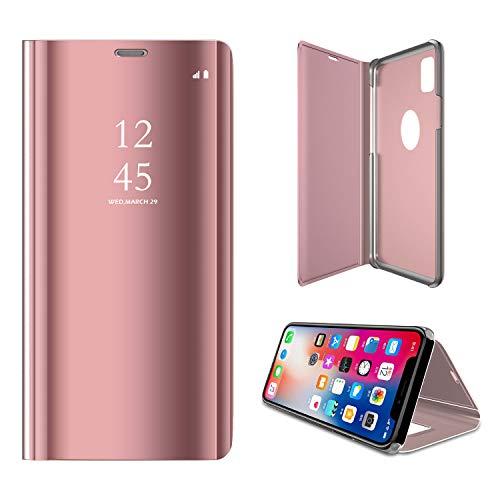 ケース Iphone Xs Max, 手帳型 鏡面 キラキラメッキ ガワ 高級PUレザー ユニーク ...