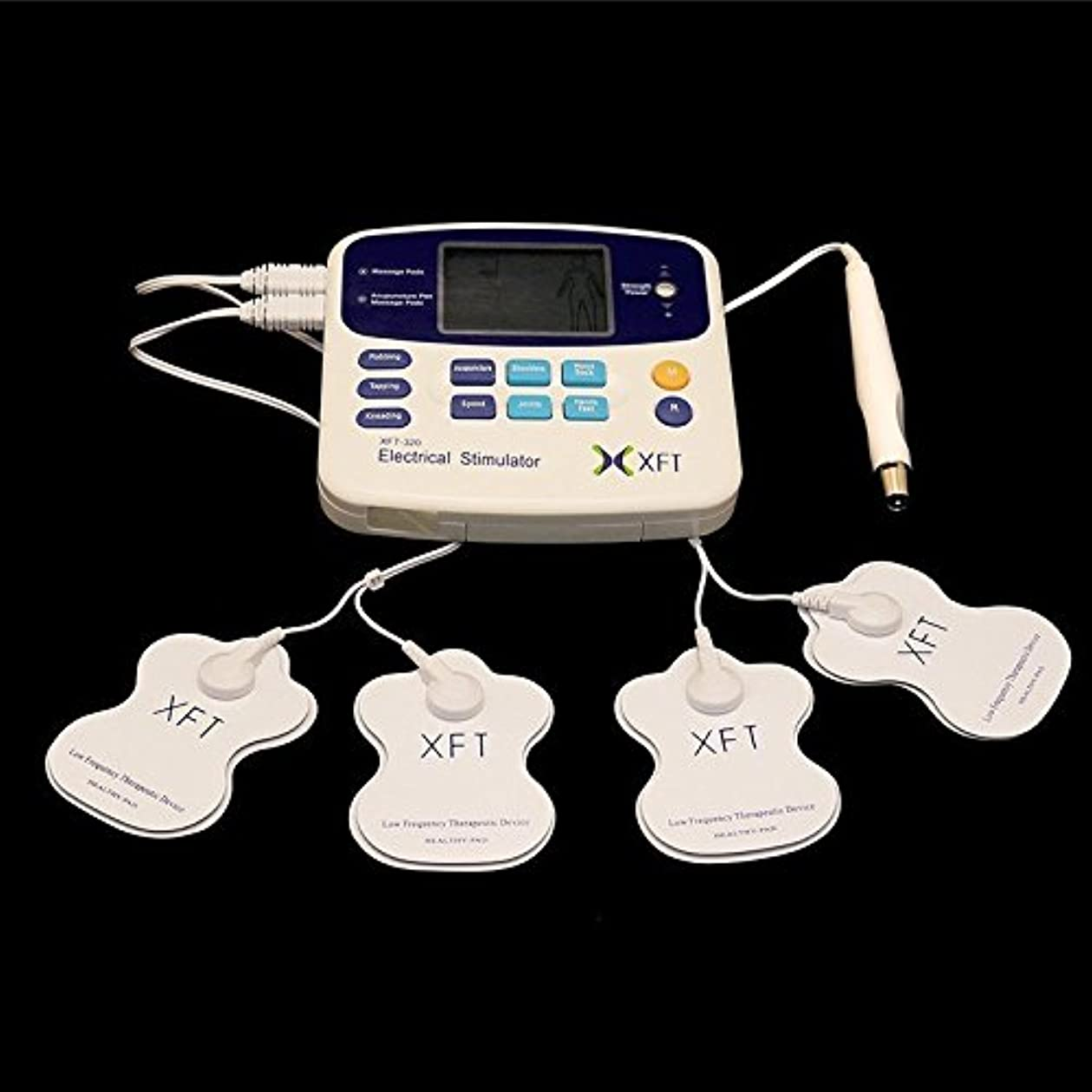 悪性オーケストラ連鎖電動マッサージャー ツボ押し付き 導子コード2本 パッド4枚 経絡を疏通 痛み解消