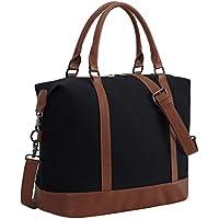 Women Ladies Weekender Bag Overnight Carry-on Tote Duffel in Trolley Handle