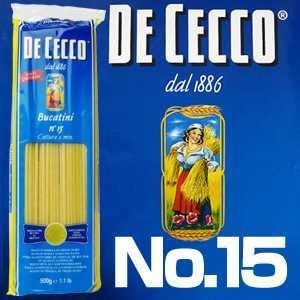 ディチェコ (DE CECCO) No.15 ブカティーニ 500g