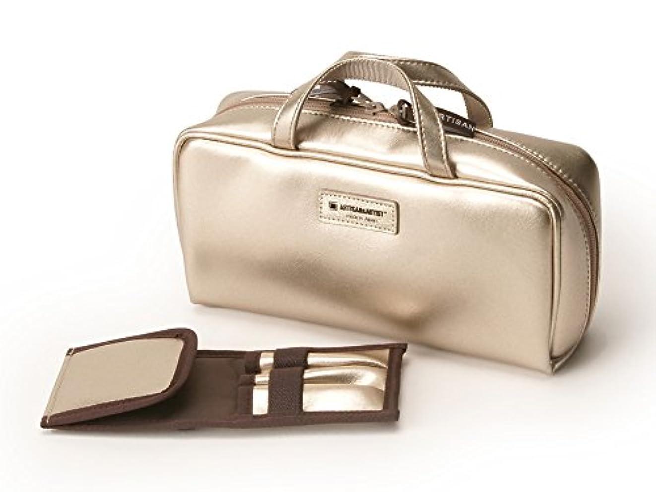 に負ける制裁レーザ[アルティザン&アーティスト] ブラシケース付きバッグ型ポーチ<Daily Gold(デイリーゴールド)> 8WP-PT619 ゴールド