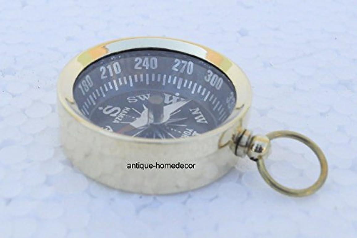エッセイ追い付く取り消すArsh NauticalノーティカルギフトヴィンテージMaritime真鍮コンパスキーチェーンキーリング