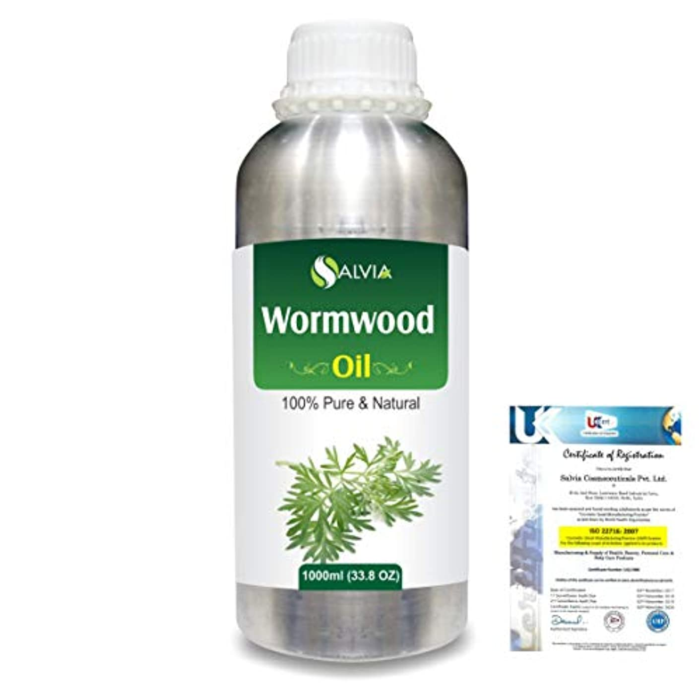 浴室ショートカット楽なWormwood (Artemisia absinthium) 100% Natural Pure Essential Oil 1000ml/33.8fl.oz.