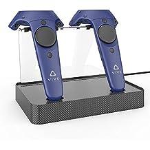 AMVRデュアル充電器磁気充電ステーション/スタンド、HTC VIVEまたはProコントローラ(炭素繊維)のサポートファームウェアアップグレード