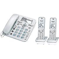 パナソニック コードレス電話機(子機2台付き)シルバー VE-GD36DW-S