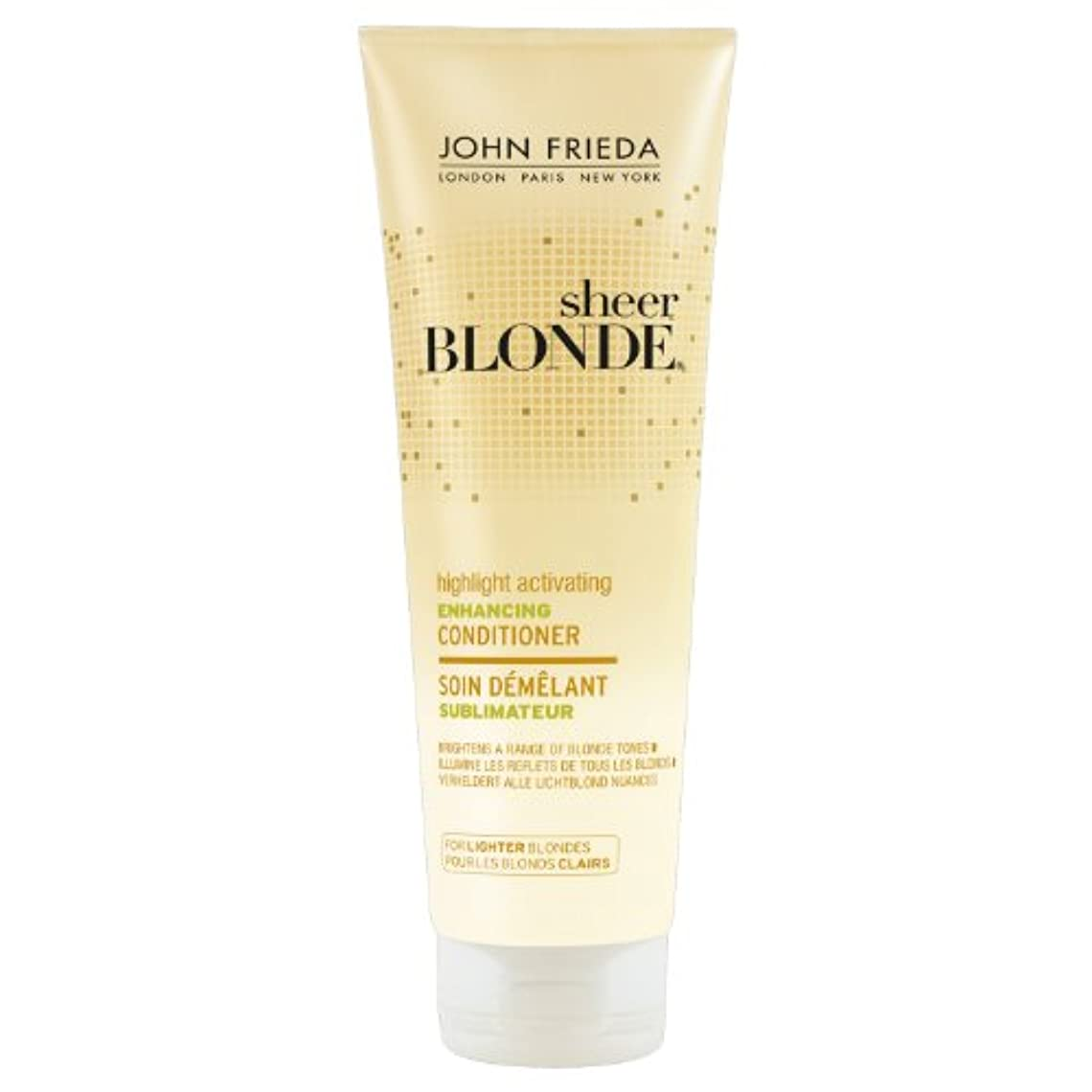 権利を与える編集する移動するJohn Frieda Sheer Blonde Highlight Activating Enhancing Conditioner for Lighter Blondes 250ml