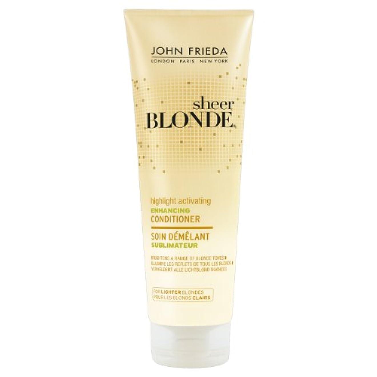 太いコミュニティ抵当John Frieda Sheer Blonde Highlight Activating Enhancing Conditioner for Lighter Blondes 250ml
