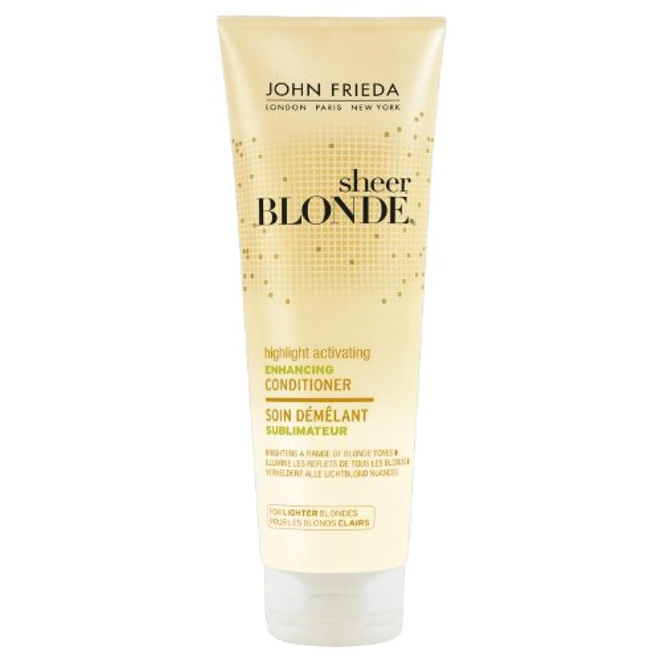 呼ぶセッション床John Frieda Sheer Blonde Highlight Activating Enhancing Conditioner for Lighter Blondes 250ml