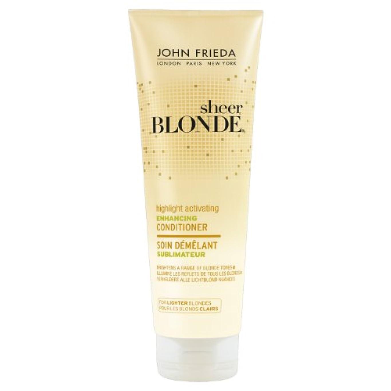 ステンレス偽善加害者John Frieda Sheer Blonde Highlight Activating Enhancing Conditioner for Lighter Blondes 250ml