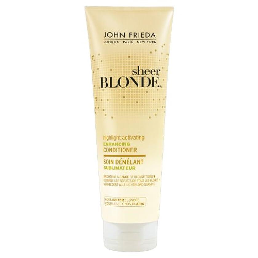 無海スピーカーJohn Frieda Sheer Blonde Highlight Activating Enhancing Conditioner for Lighter Blondes 250ml