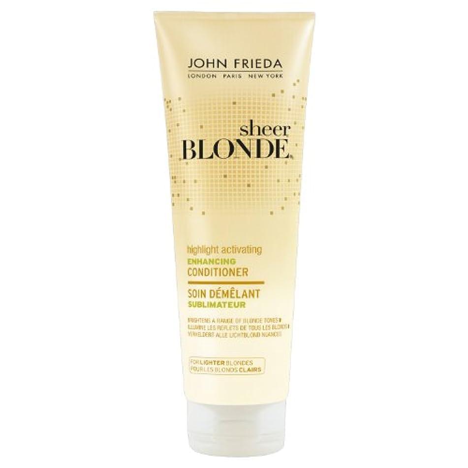 シリーズベルベット楽しませるJohn Frieda Sheer Blonde Highlight Activating Enhancing Conditioner for Lighter Blondes 250ml