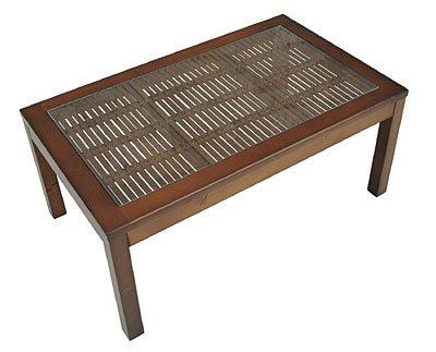アジアン バンブーガラステーブル75cm幅 BL-064S