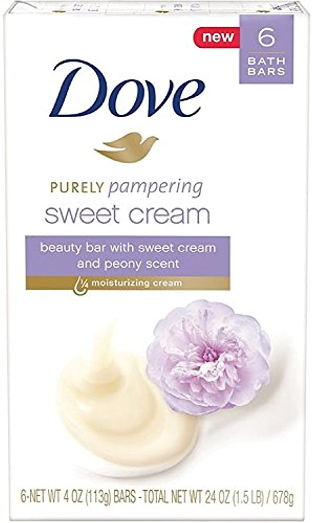 Dove 純粋な美しさバー、甘いクリーム&牡丹、4つのオズバー、6 Eaは(9パック)を甘やかします 9パック