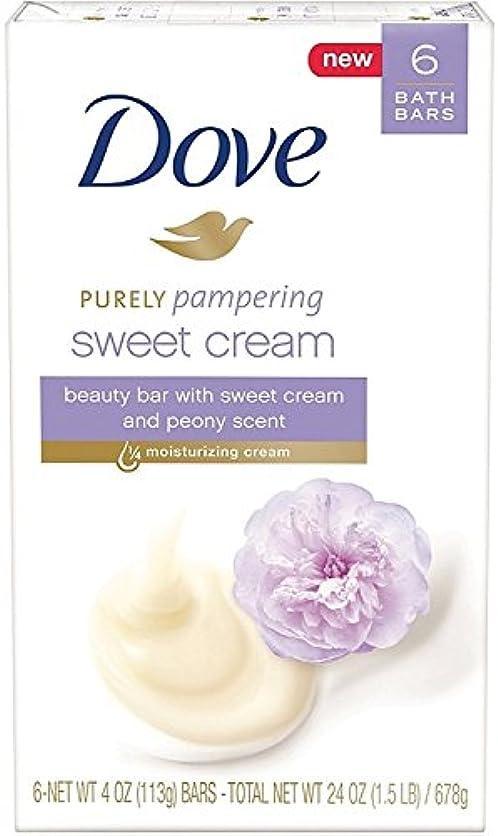 メールを書くオープナー種をまくDove 純粋な美しさバー、甘いクリーム&牡丹、4つのオズバー、6 Eaは(9パック)を甘やかします 9パック