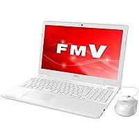 富士通 15.6型ノートパソコン FMV LIFEBOOK AH42/C2 プレミアムホワイト[Celeron/メモリ 4GB/HDD 1TB/Office H&B 2016]※2018年夏モデル FMVA42C2W