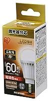 アイリスオーヤマ LED電球 口金直径17mm 60W形相当 電球色 広配光タイプ 調光器対応 密閉器具対応 LDA9L-G-E17/D-6V3