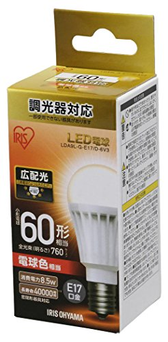 アイリスオーヤマ LED電球 口金直径17mm 60W形相当...