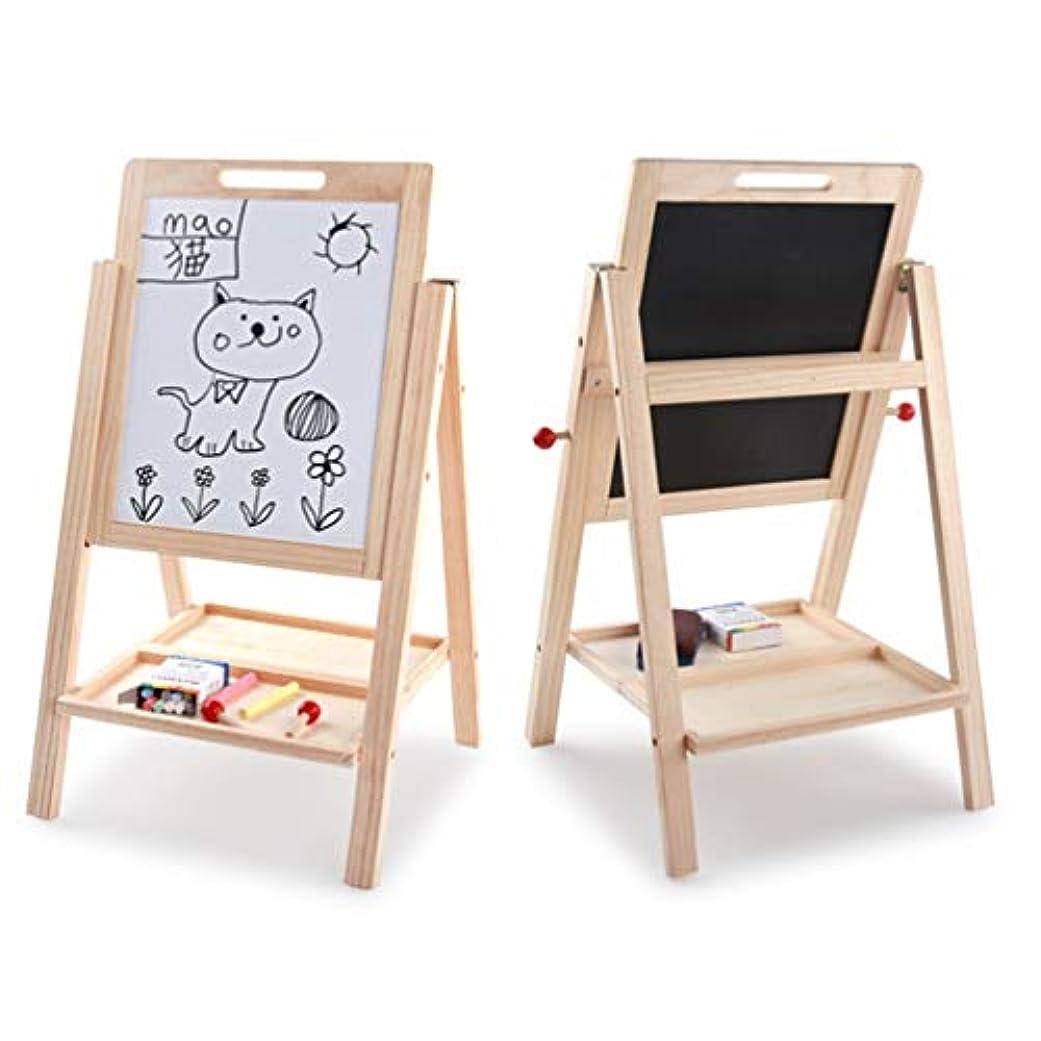 祝福するほのめかす展開する両面ライティングボードを学習する木製の子供-マルチカラー