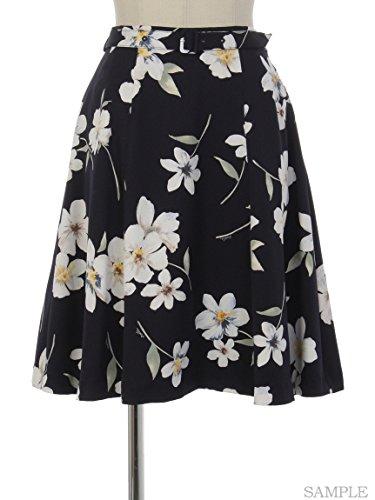 Noela (ノエラ)オリジナル水彩フラワー柄スカート