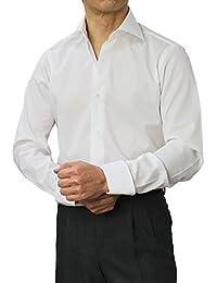 BARBA ブラックレーベル I BODY MIRANO コットンブロード セミワイド ターンナップカフ ドレスシャツ