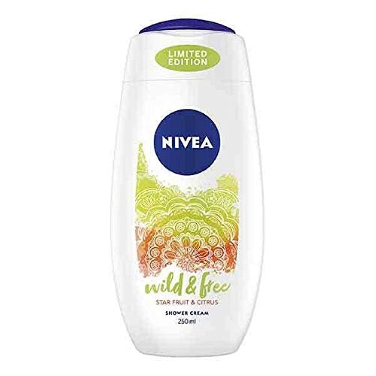 吸収日常的に可動[Nivea ] ニベアシャワーワイルド&無料シトラス250ミリリットル - NIVEA Shower Wild & Free Citrus 250ml [並行輸入品]