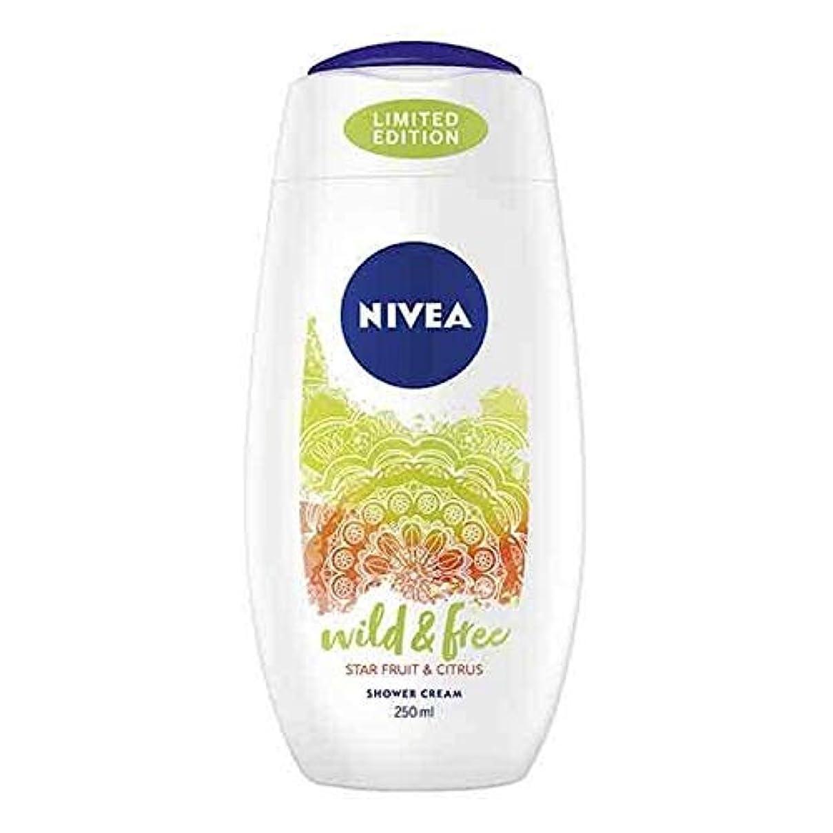 動物ネブテナント[Nivea ] ニベアシャワーワイルド&無料シトラス250ミリリットル - NIVEA Shower Wild & Free Citrus 250ml [並行輸入品]