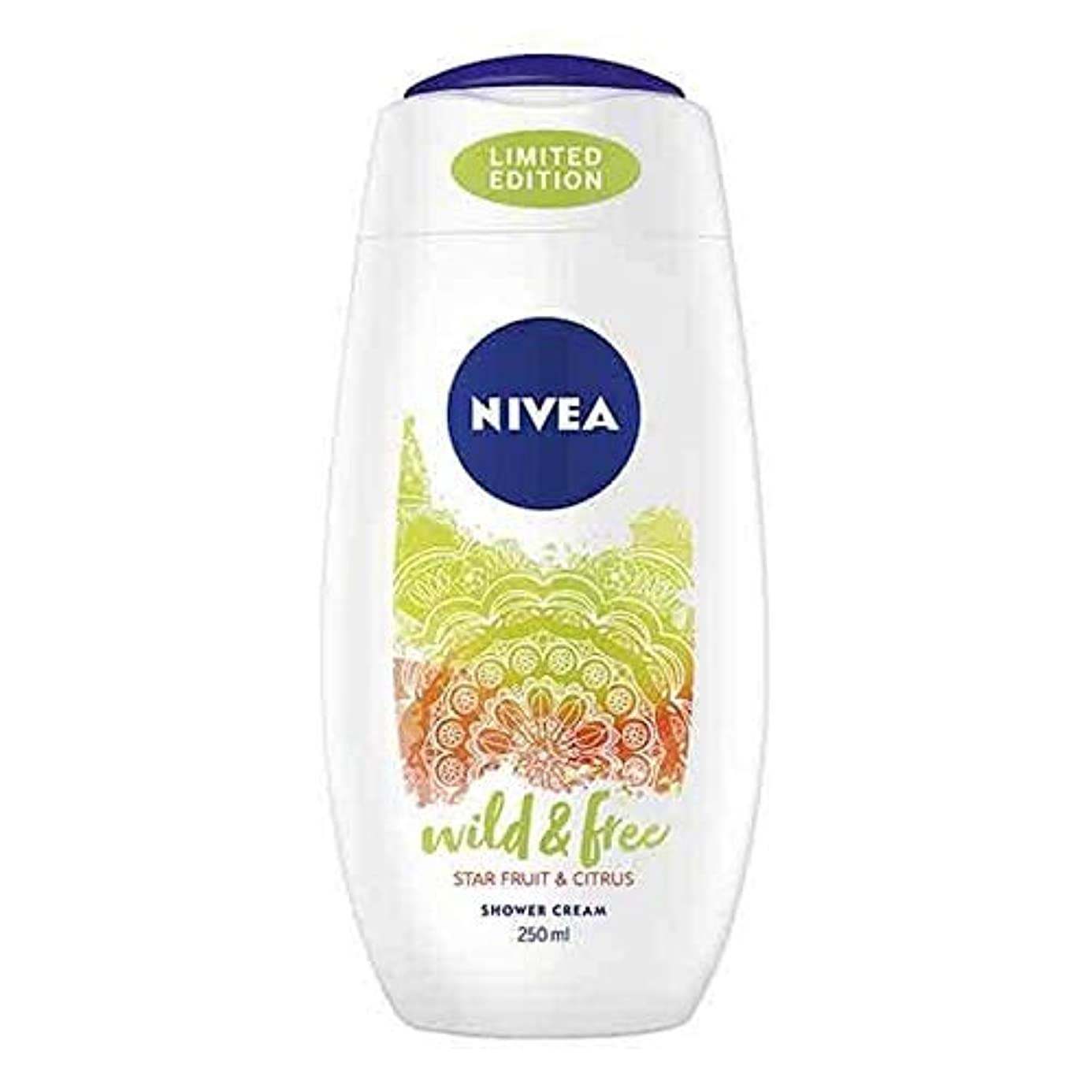 論文寛解かんたん[Nivea ] ニベアシャワーワイルド&無料シトラス250ミリリットル - NIVEA Shower Wild & Free Citrus 250ml [並行輸入品]