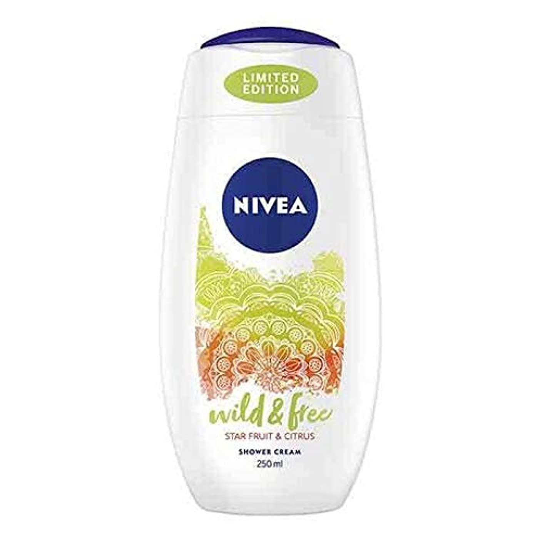 危険にさらされている休み進化[Nivea ] ニベアシャワーワイルド&無料シトラス250ミリリットル - NIVEA Shower Wild & Free Citrus 250ml [並行輸入品]