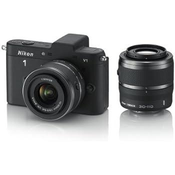 Nikon ミラーレス一眼カメラ Nikon 1 (ニコンワン) V1 (ブイワン) ダブルズームキット ブラック N1 V1WZ BK