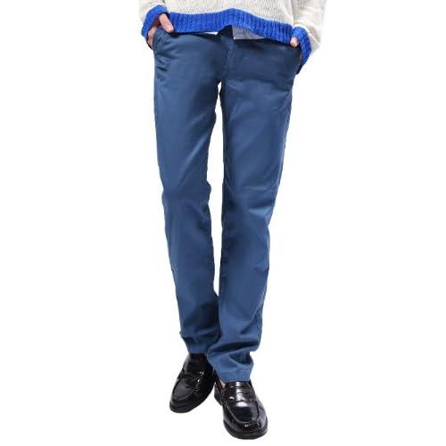 (ハイクオリティプロダクト)High quality product チノパン メンズ チノパンツ 大きいサイズ カラーパンツ 黒 青 男性 M インクブルー