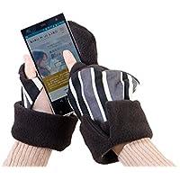 スマホをしっかり持てる手袋「持手袋(もてぶくろ)」ブラックLサイズ男女兼用