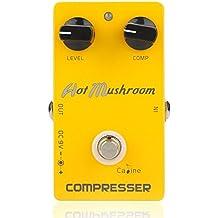 SODIAL Caline CP-10 Compressor Guitar Effect Pedal Hot Mushroom Aluminum Alloy Housing Ture Bypass Orange