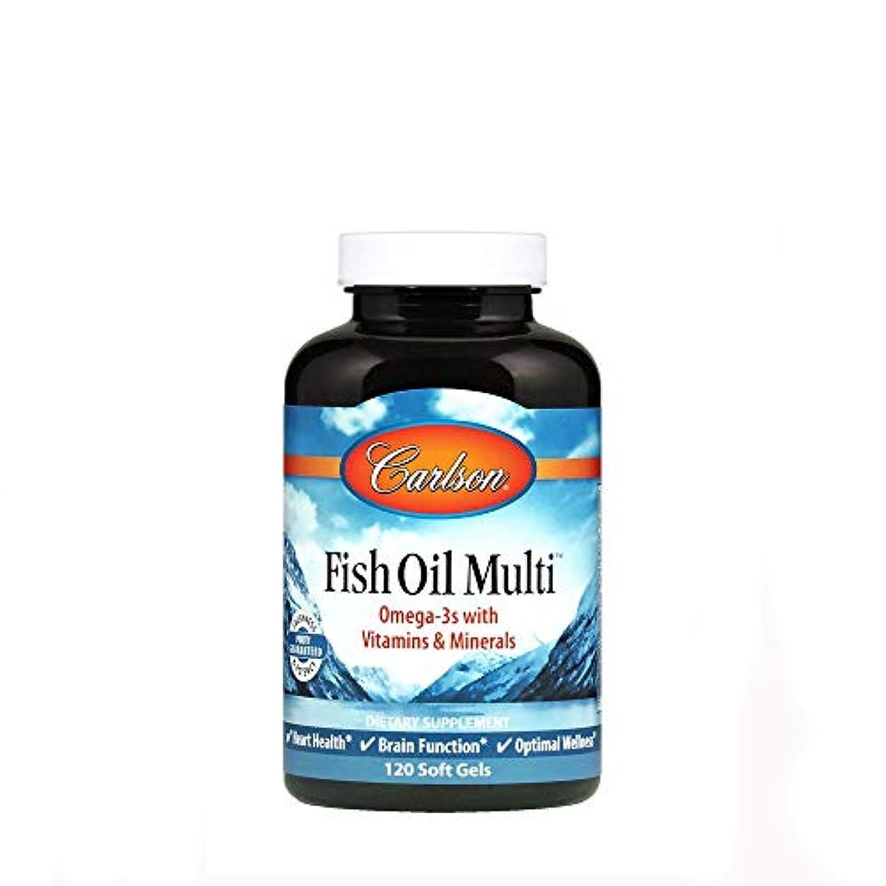 伝導率戸棚バーCarlson Labs, Fish Oil Multi, 120 Soft Gels