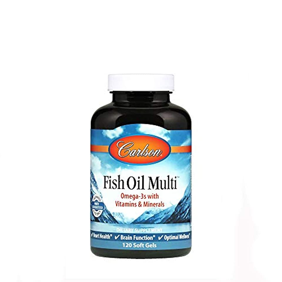成長教師の日回転するCarlson Labs, Fish Oil Multi, 120 Soft Gels