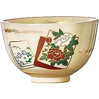 茶道具商 左座園 茶道具 抹茶茶碗 おけいこ用 色絵茶碗 色紙絵